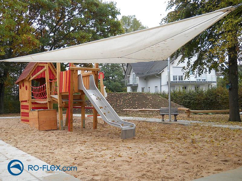 Sonnensegel dreieckig für Kinderspielplatz
