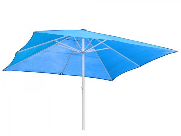 Komfort Sonnenschirm ROFI Klima Pro, quadratisch 400x400cm, Standrohr Ø 60mm, blau