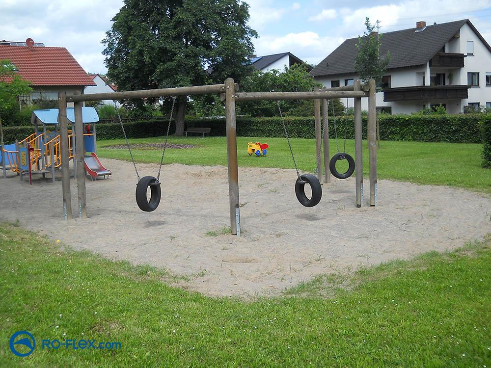 RO-FLEX Sandreinigung Spielplatz Karlburg vorher