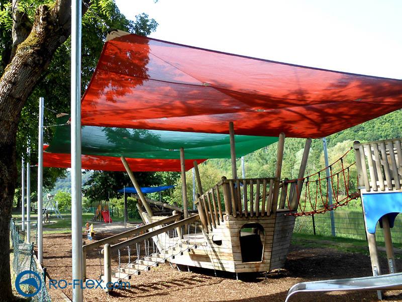 Sonnensegel für Spielplätze