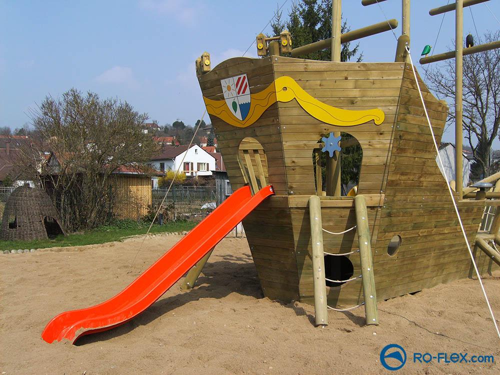 RO-FLEX Spielplatzbau Piratenschiff, Rippach 4