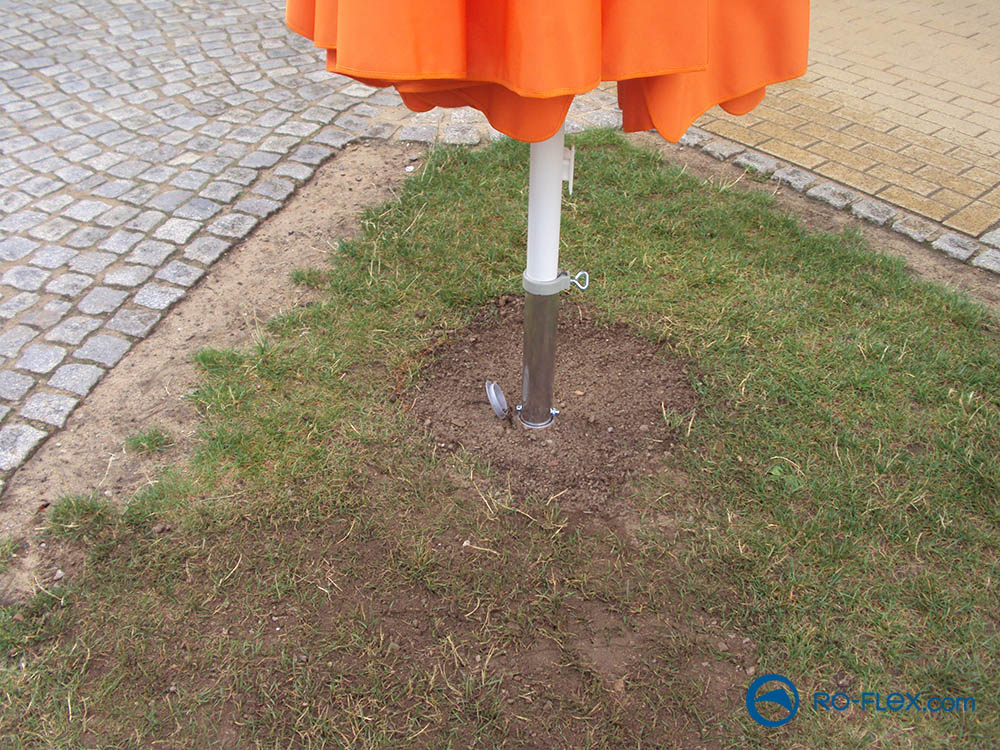 RO-FLEX Sonnenschirm Bodenbefestigung