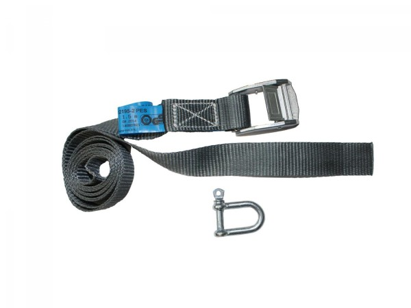 2 pack lashing straps from 2.5 inch posts incl. shackle