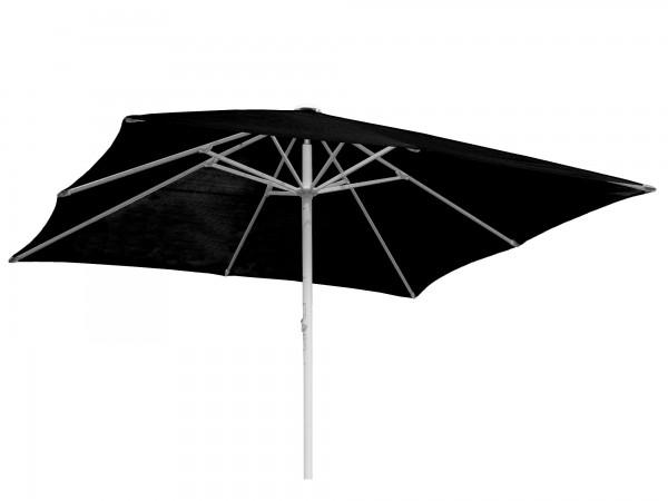 Komfort Sonnenschirm ROFI Klima Pro, quadratisch 450x450cm, Standrohr Ø 60mm, schwarz