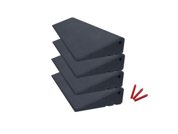 Bordsteinrampenset Homeworker 4m breit, 95mm hoch, Grau