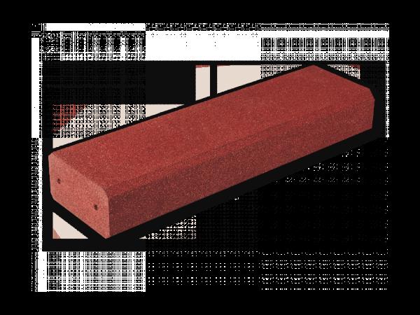 Blockstufen 1000 Gummigranulat Rotbraun