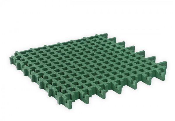 Rasengitterplatte 45 mm aus Gummigranulat Grün