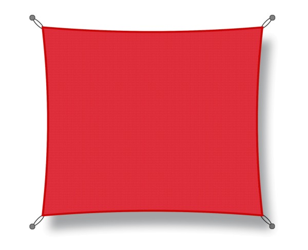 Square shade sail 4.50 x 4.50 m red