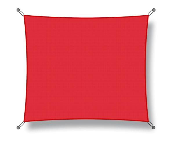 Sonnensegel Quadratisch 3,50 x 3,50m rot