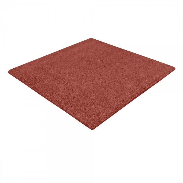 Elastic tiles rubber granulate 45 mm auburn