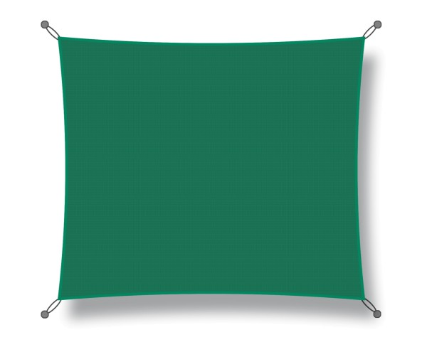 Square shade sail 4.00 x 4.00 m, dark green