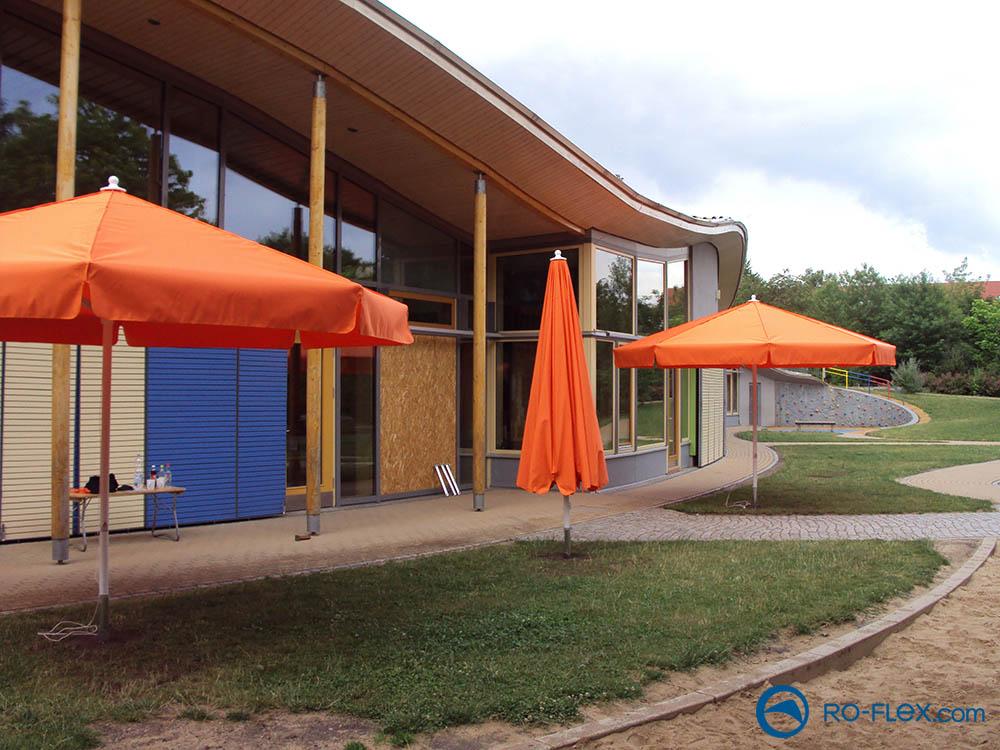 RO-FLEX Sonnenschirm mit Volant