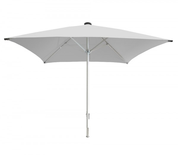Facil square parasol 350 x 350 cm, light grey, stand pipe diameter 76 mm