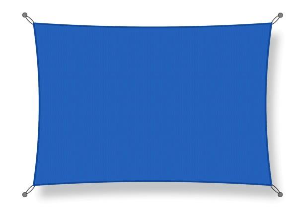 Shade sails 3.50 x 3.50 m blue