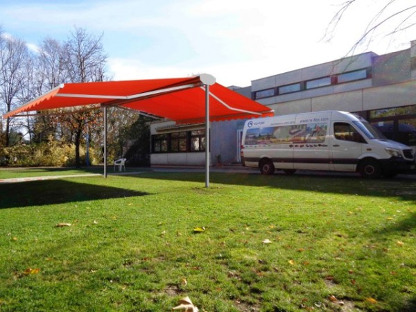 """Komfort Sonnenschutz freistehende Markise """"Roll On 6 x 6 m"""""""