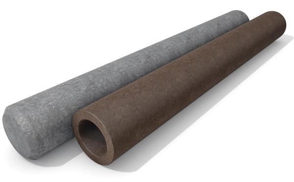 Rundpalisaden Ø 12 cm hanit® recyceltem Kunststoff - Hohlprofil.