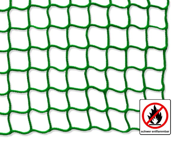 Safety net green, flame retardant - mesh size 45 mm