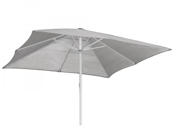 Komfort Sonnenschirm ROFI Klima Pro, quadratisch 450x450cm, Standrohr Ø 76mm, silber