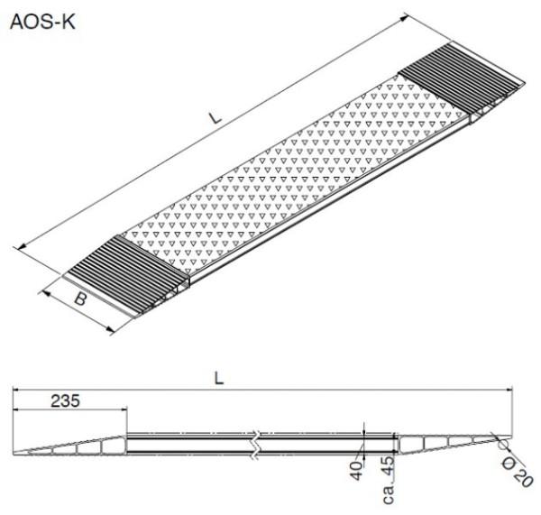 Kurzschienen AOS-K