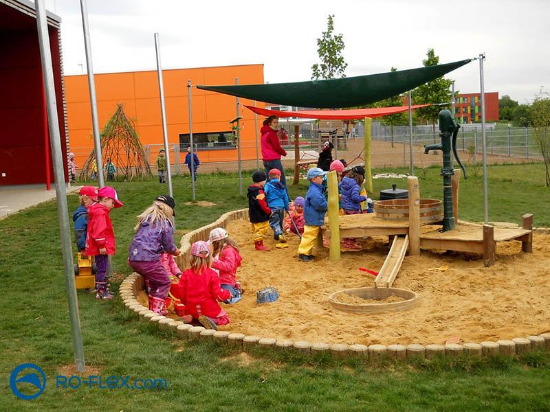 Sonnensegel für kindergarten